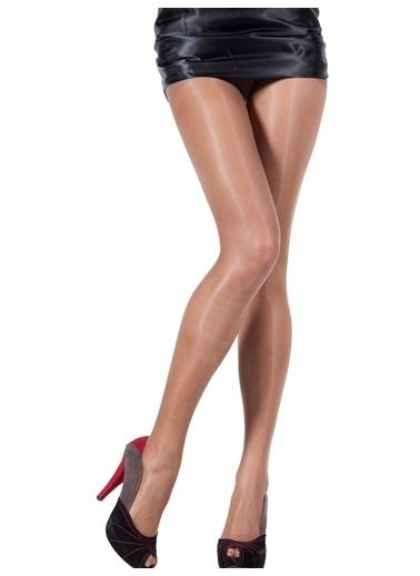 Pierre Cardin 3 Adet Likralı Parlak Külotlu Çorap Vizon